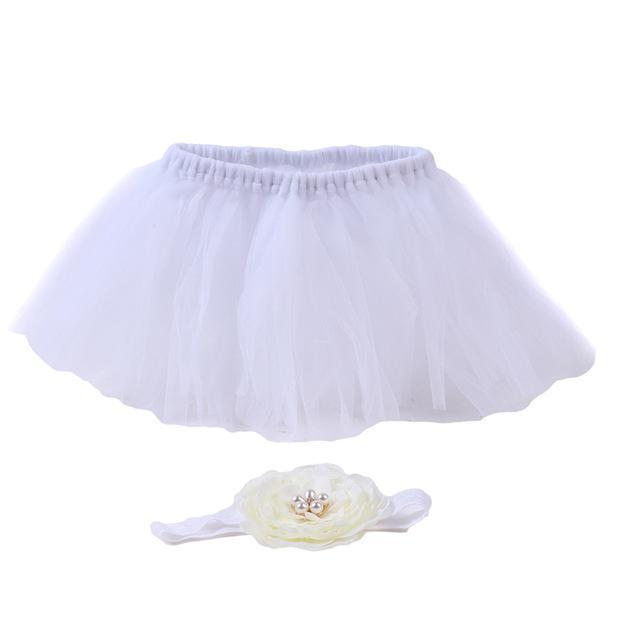 Ensemble jupe-bandeau pour bébés