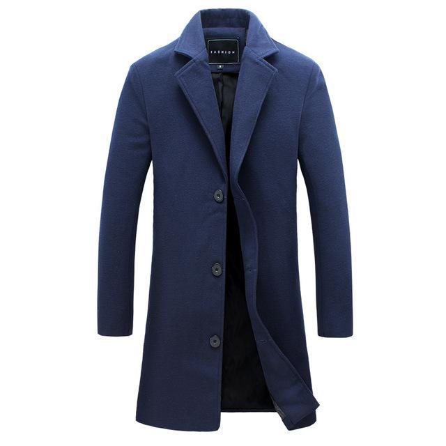 Manteau slim revers pour homme