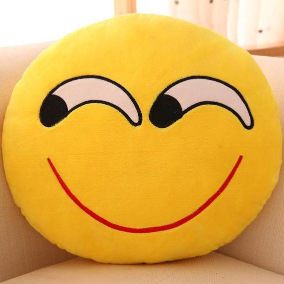 Oreillers décoratifs en forme d'emoji