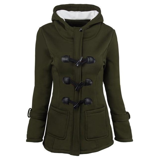 Manteau mi-saison à capuche