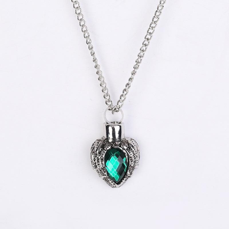 Collier avec coeur En Cristal vert