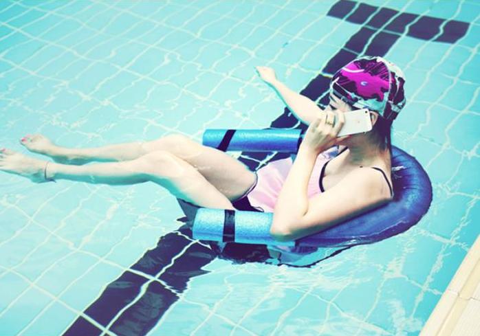Siège de piscine flottant