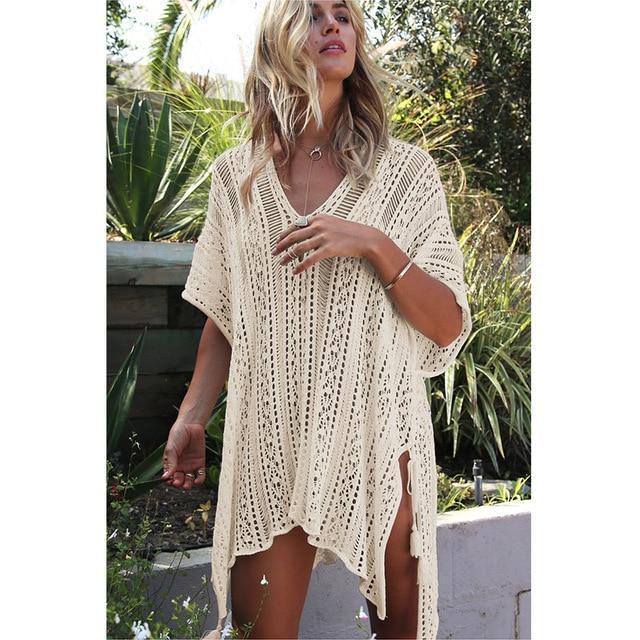Robe de plage en crochet